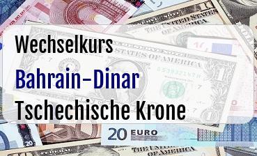 Bahrain-Dinar in Tschechische Krone