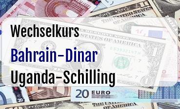 Bahrain-Dinar in Uganda-Schilling