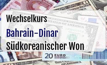 Bahrain-Dinar in Südkoreanischer Won