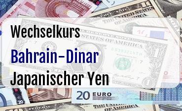 Bahrain-Dinar in Japanischer Yen