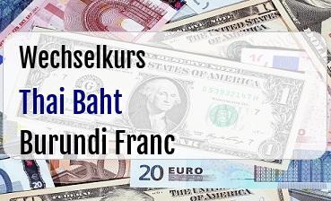Thai Baht in Burundi Franc