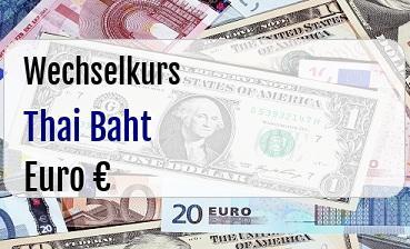 Thai Baht in Euro