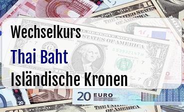Thai Baht in Isländische Kronen