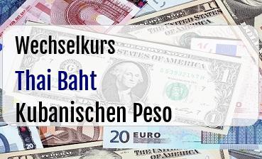 Thai Baht in Kubanischen Peso