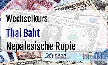 Thai Baht in Nepalesische Rupie
