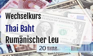 Thai Baht in Rumänischer Leu