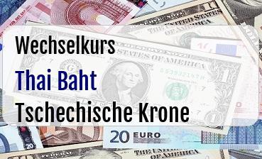 Thai Baht in Tschechische Krone