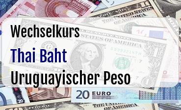 Thai Baht in Uruguayischer Peso