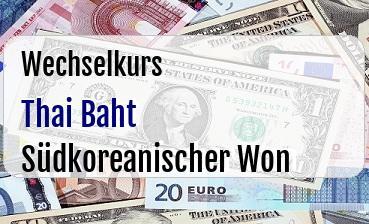 Thai Baht in Südkoreanischer Won