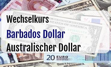 Barbados Dollar in Australischer Dollar