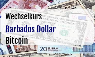 Barbados Dollar in Bitcoin