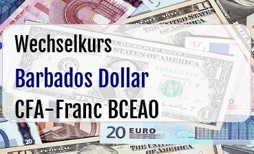 Barbados Dollar in CFA-Franc BCEAO