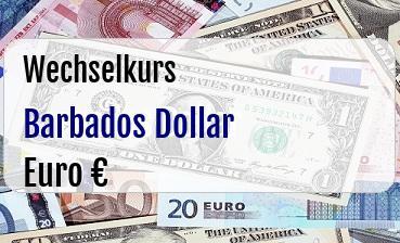 Barbados Dollar in Euro