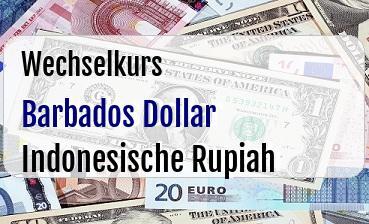 Barbados Dollar in Indonesische Rupiah