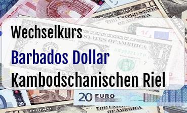 Barbados Dollar in Kambodschanischen Riel