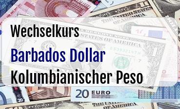 Barbados Dollar in Kolumbianischer Peso