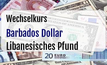 Barbados Dollar in Libanesisches Pfund