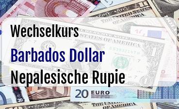Barbados Dollar in Nepalesische Rupie