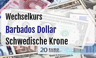 Barbados Dollar in Schwedische Krone