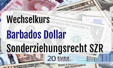 Barbados Dollar in Sonderziehungsrecht SZR