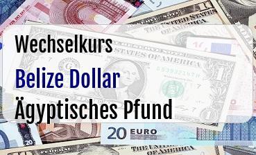 Belize Dollar in Ägyptisches Pfund