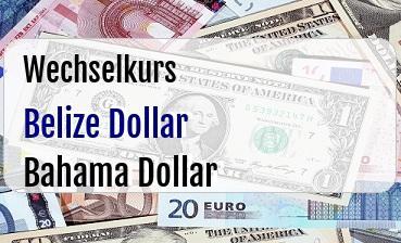 Belize Dollar in Bahama Dollar