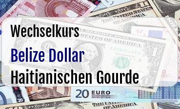 Belize Dollar in Haitianischen Gourde