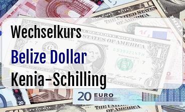 Belize Dollar in Kenia-Schilling