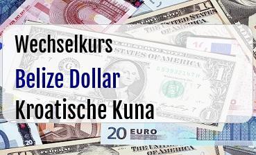 Belize Dollar in Kroatische Kuna