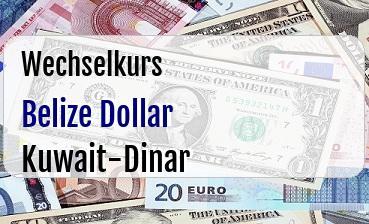 Belize Dollar in Kuwait-Dinar
