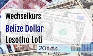Belize Dollar in Lesotho Loti