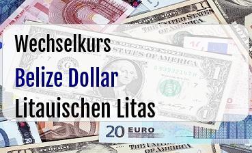 Belize Dollar in Litauischen Litas