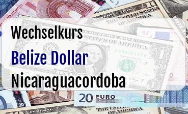 Belize Dollar in Nicaraguacordoba
