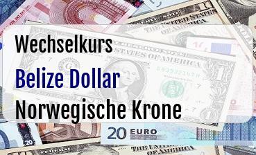 Belize Dollar in Norwegische Krone