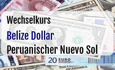 Belize Dollar in Peruanischer Nuevo Sol