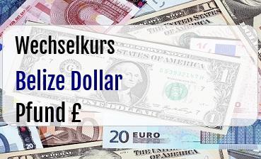 Belize Dollar in Britische Pfund