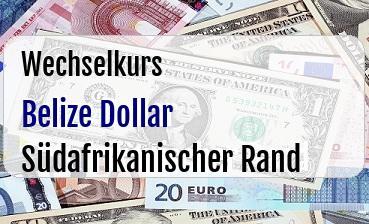 Belize Dollar in Südafrikanischer Rand