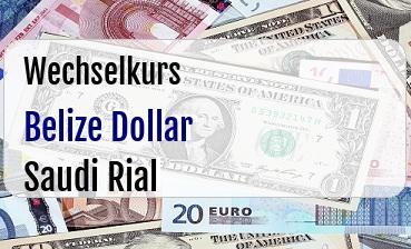 Belize Dollar in Saudi Rial