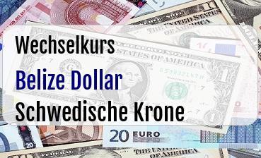 Belize Dollar in Schwedische Krone