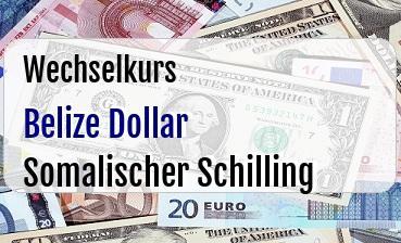Belize Dollar in Somalischer Schilling