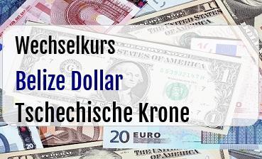 Belize Dollar in Tschechische Krone
