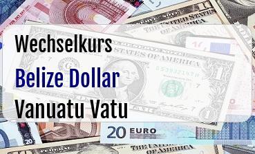 Belize Dollar in Vanuatu Vatu