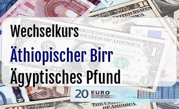 Äthiopischer Birr in Ägyptisches Pfund