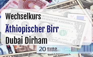 Äthiopischer Birr in Dubai Dirham