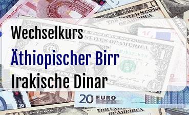 Äthiopischer Birr in Irakische Dinar