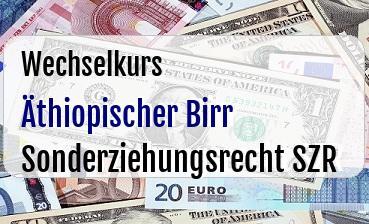 Äthiopischer Birr in Sonderziehungsrecht SZR