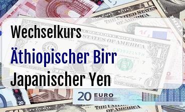 Äthiopischer Birr in Japanischer Yen