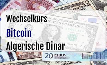 Bitcoin in Algerische Dinar