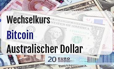 Bitcoin in Australischer Dollar