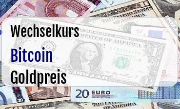 Bitcoin in Goldpreis